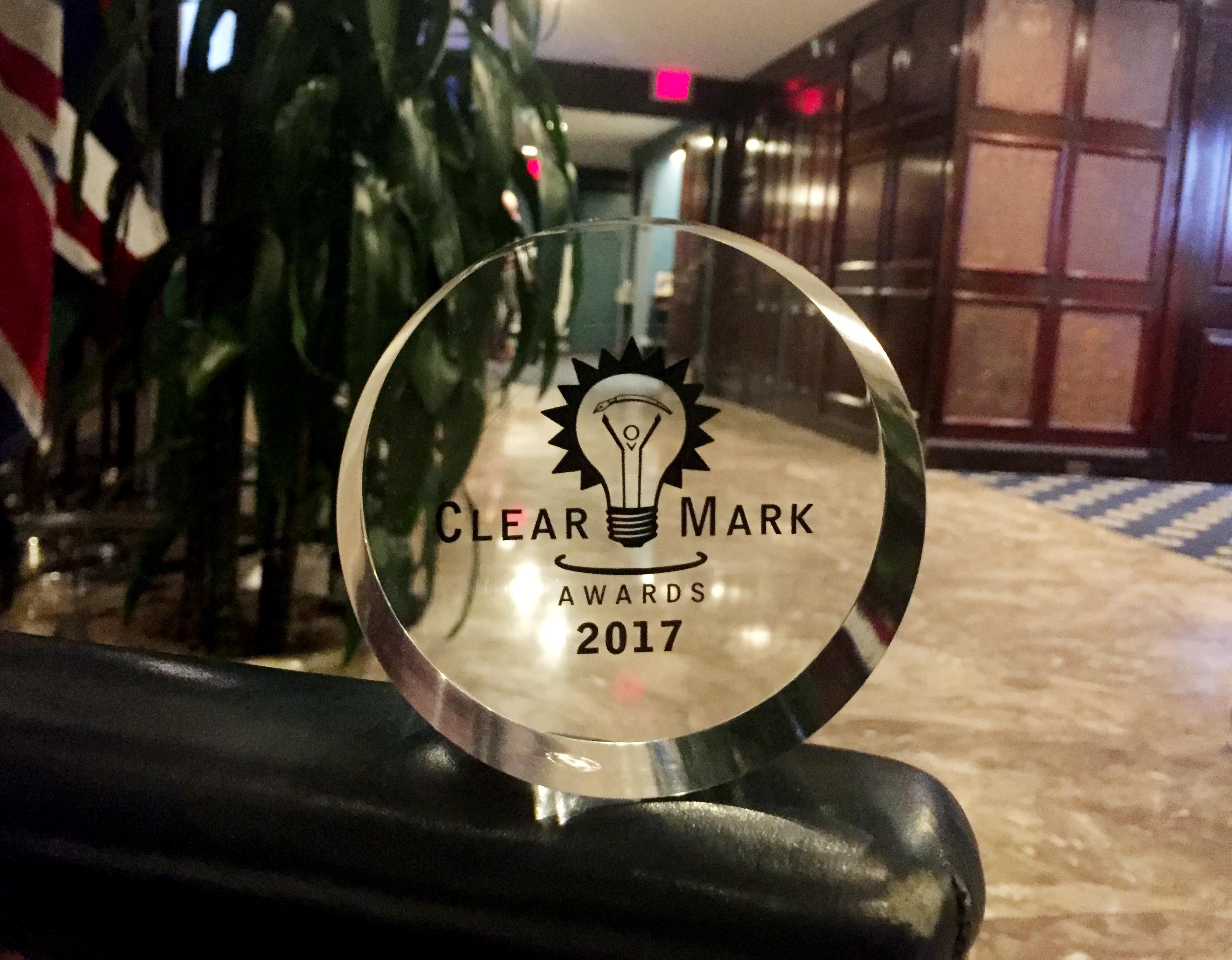 ThoughtForm wins ClearMark Award of Distinction